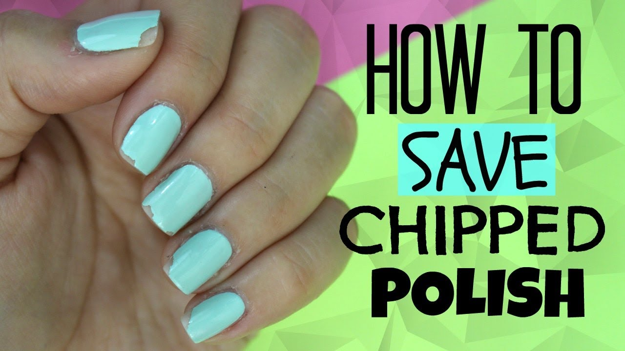 How to fix chipped nail polish! - YouTube