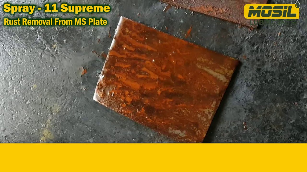 Spray 11 Rust Removal From MS Plate