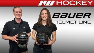 2018 Bauer Helmet Line Insight with the RE-AKT 95