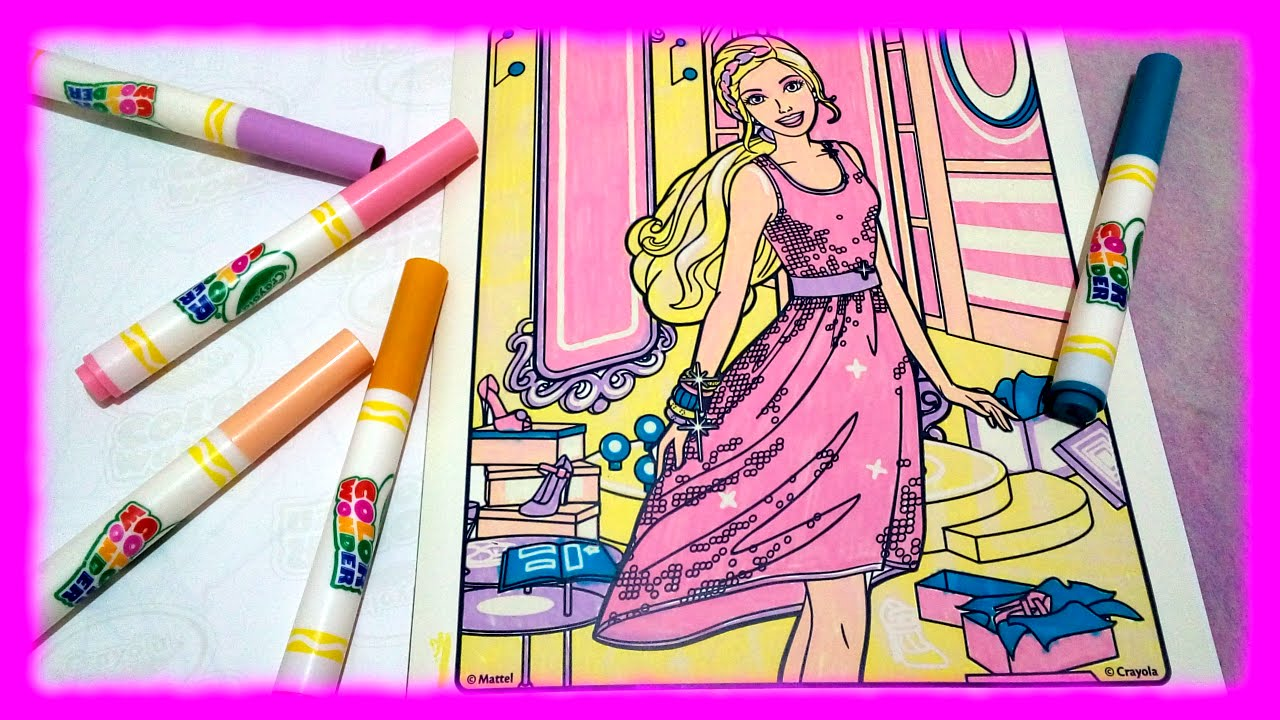 Colouring Pages From Crayola Color Wonder Barbie ♥ Toys World
