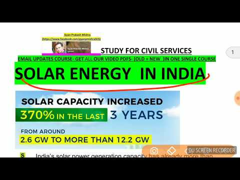 SOLAR ENERGY IN INDIA -LATEST 2017 FACTS
