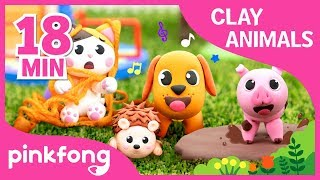 How to make Dog with Clay and more | Clay Animals | +Compilation | Pinkfong Songs for Children