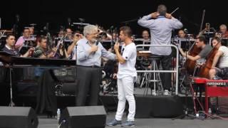 David Bisbal - Soundcheck y actuación con Plácido Domingo