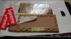 Supreme FW18 Week 7 Pickup/Unboxing Gold Chain License Plate Frame