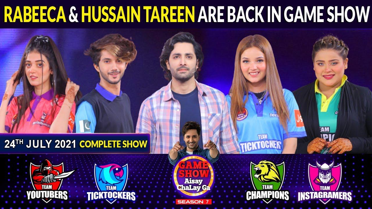 Download Rabeeca Khan And Hussain Tareen In Game Show Aisay Chalay Ga Season 7 | Danish Taimoor Show