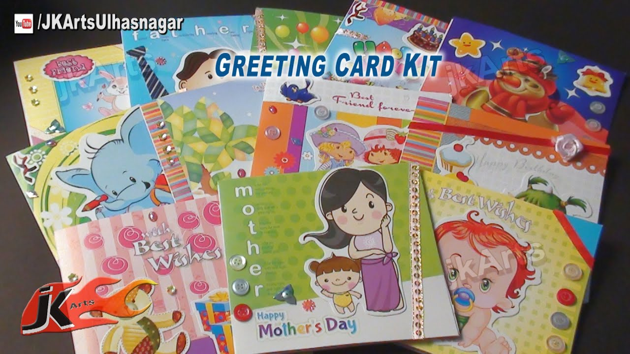 Greeting cards making kit unboxing tutorial mothers day greeting cards making kit unboxing tutorial mothers day valentines day jk arts 572 youtube m4hsunfo