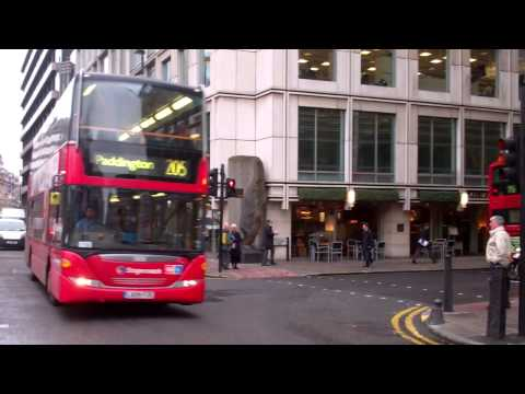London Buses at Finsbury Square/Moorgate