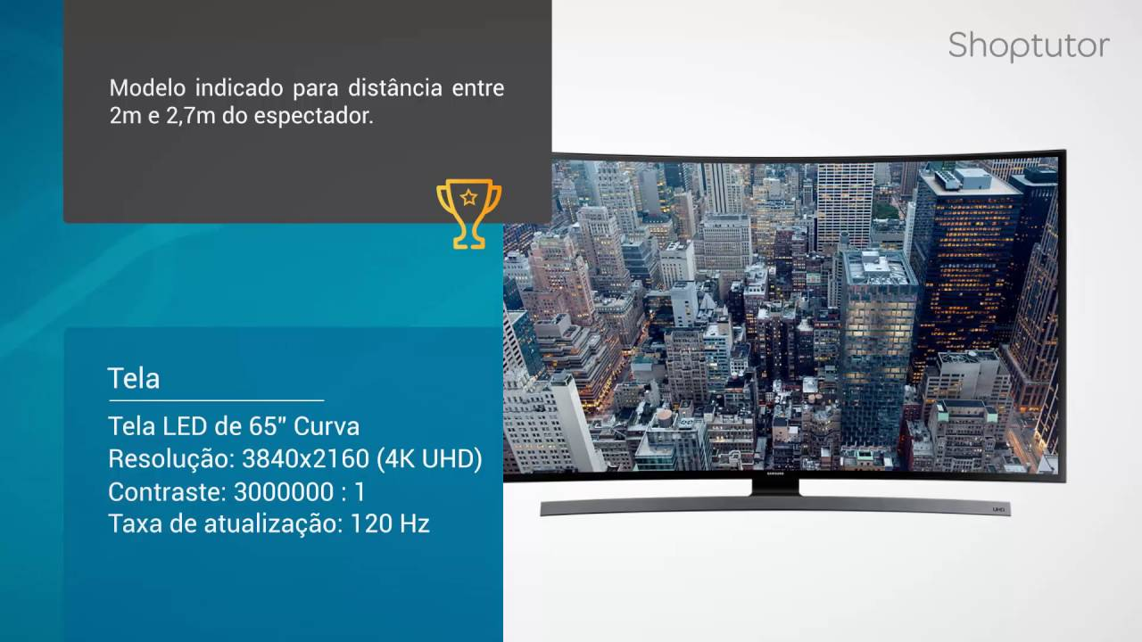 Favoritos Smart TV Samsung UN65JU6700GXZD LED 4K UHD de 65 Polegadas Curva  RO27