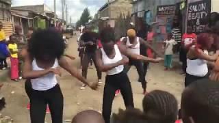 Churchill Show Crew AWESOME DANCE  LIVE in Nakuru streets on MASHUJAA