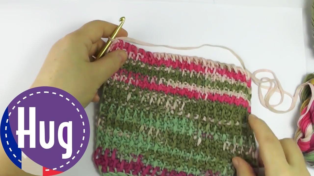 Crochet tunecino - Patrón básico con puntada Dinkel Woolly Hugs ...