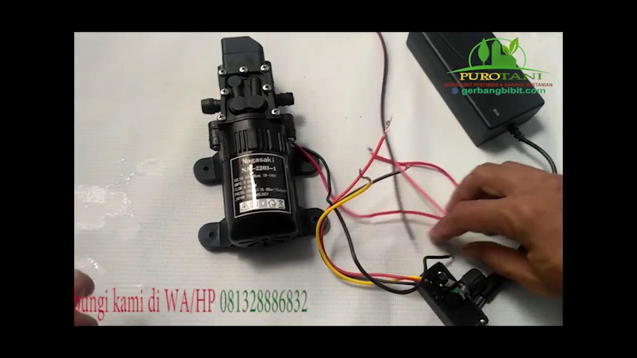 Pemasangan Pompa Air Dinamo Dc Adaptor Potensio