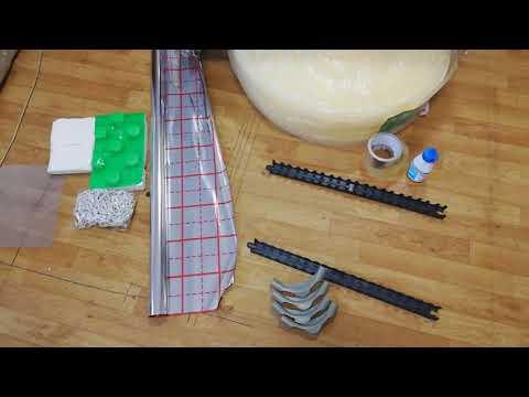 Комплектующие водяного теплого пола. Якорная скоба, отражатель, демпфер, монтажная планка, шкаф итд.