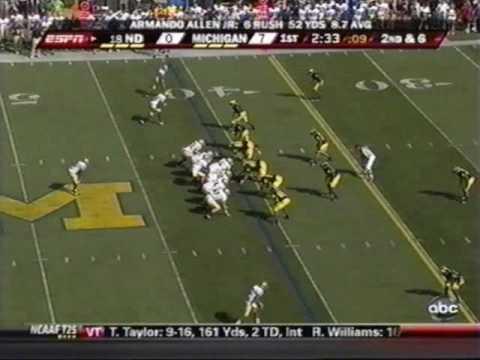 2009: Michigan-38 Notre Dame-34 (PART 1)