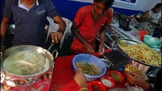 """Freshly fried """"Crispy Chaat Masala Chips"""" (Double Cooked Finger Fries) Indian Street Food in Bardoli"""