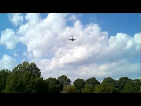 Flyover at Arlington Cemetary for Col. David W. Thompson