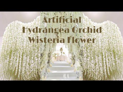 30PCS 100CM Artificial Hydrangea Orchid Wisteria Flower For DIY Wedding decoration |aliexpress