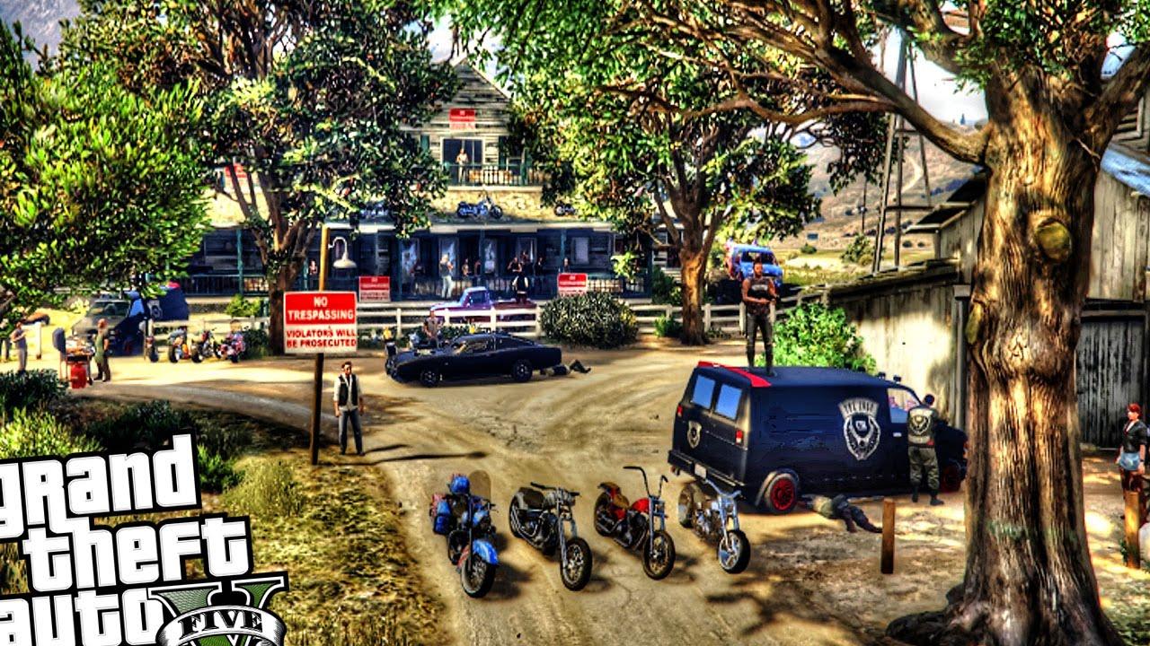 Gta 4 Stevie Autos Karte.Lost Motorcycle Club Custom Farm House Gta 5 Pc Mod