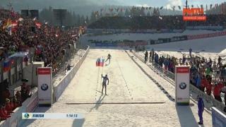 Россия – чемпион мира по биатлону в мужской эстафете впервые за 9 лет