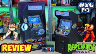 Street Fighter II Replicade! Mini Arcade With Extra Fight Stick Review! Video