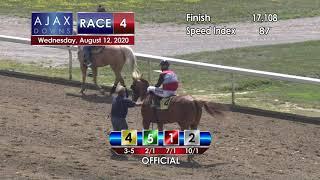 Ajax Downs August 12, 2020 Race 4