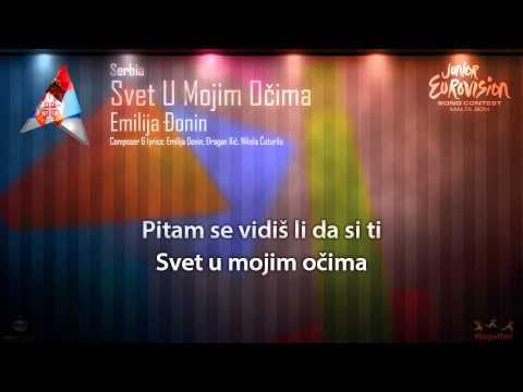 "Emilija Đonin - ""Svet U Mojim Očima"" (Serbia) - [Karaoke version]"