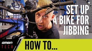 How To Set Up A Mountain Bike For Jibbing | Barspin And Freecoaster Hacks