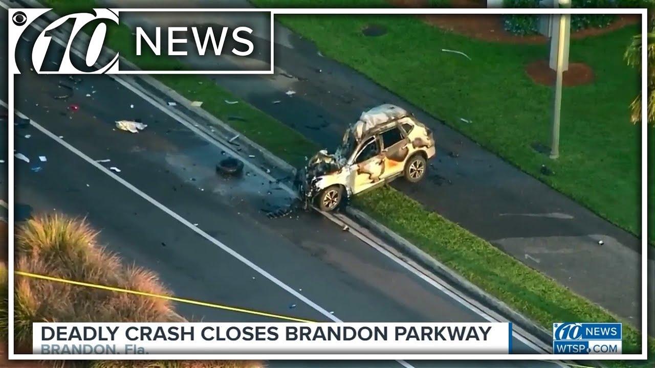 Deadly crash closes part of Brandon Parkway in Brandon, Florida