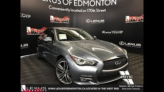 Used Blue 2015 INFINITI Q50 Limited Walkaround Review Bonnyville Alberta