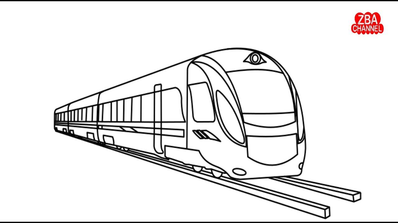 Gambar Kereta Api Untuk Mewarnai Wow Keren Belajar Menggambar Dan Mewarnai Kereta Api Hijau Youtube