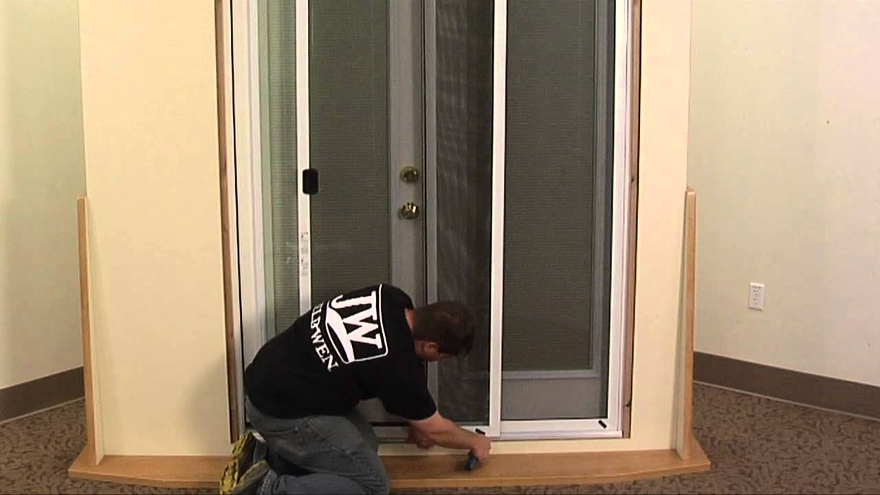 How To Install A Patio Door Screen   YouTube
