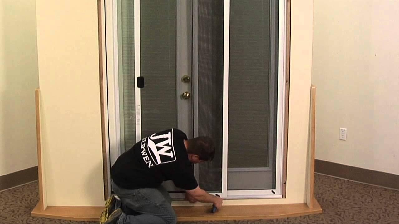 how to install a patio door screen