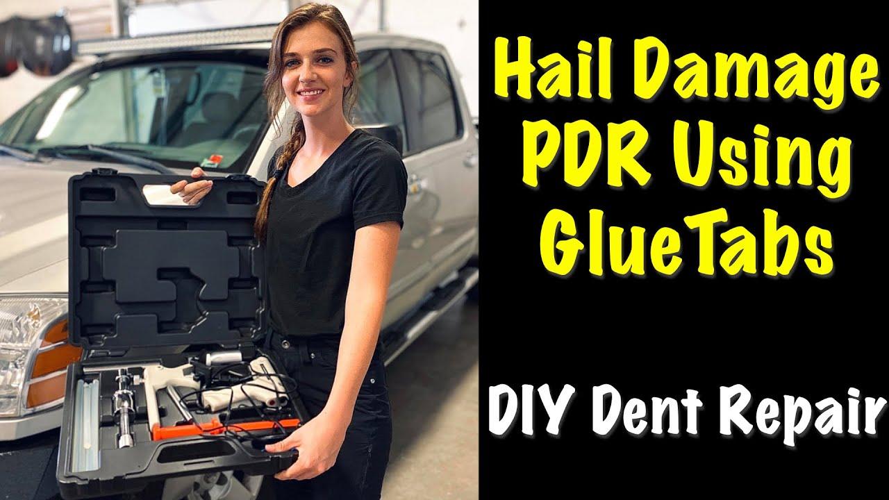 Diy Pdr Glue Tab Hail Dent Repair The Eastwood Way Youtube