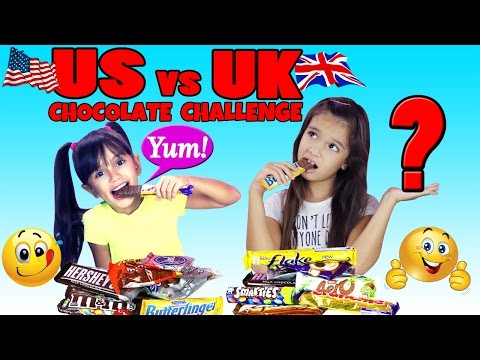 British Chocolates vs American Chocolates Challenge - US vs UK Candy Bars - See our reaction!