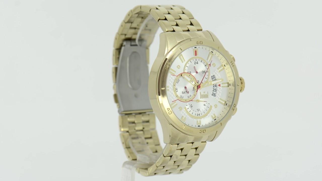 622642c58b3 Relógio Dumont Masculino Garbo DUJP15AA 4K - Eclock - YouTube