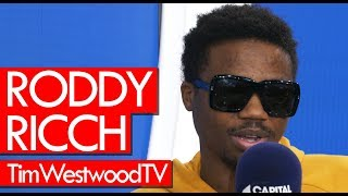 Roddy Ricch on Die Young, UK shows, Meek Mill, Compton, new music, ice, drip - Westwood