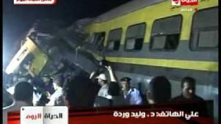 فيديو مباشر عن حادث قطار العياط