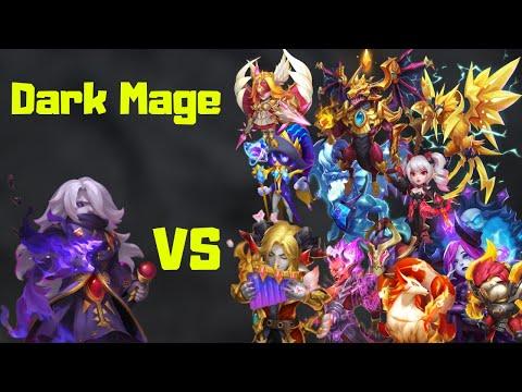 Dark Mage Vs Top Legends | Castle Clash