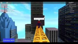 Roblox Be Spiderman gameplay
