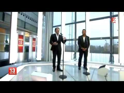 """David SERERO & Jermaine JACKSON au JT 13h FRANCE 2 avec les """"Feuilles Mortes"""""""