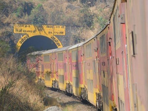 Mumbai To Goa : Full Train Journey : GOA AC Double Decker Express : Konkan Railways