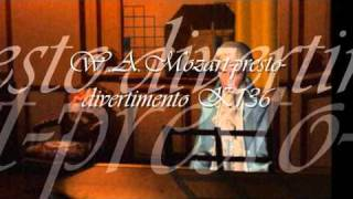 mozart- presto divertimento k136 -  year  1772.wmv
