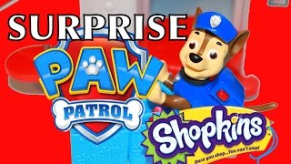 Shopkins Surprise Blind Bags Paw Patrol Chase Police Dog Ultra Rare Shopkin Glittler Toys