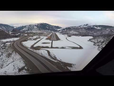 Gulfstream V Landing in Aspen Feb 2017
