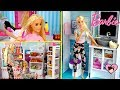 barbie dreamhouse morning routine grocery shopping new hair cut in beauty salon