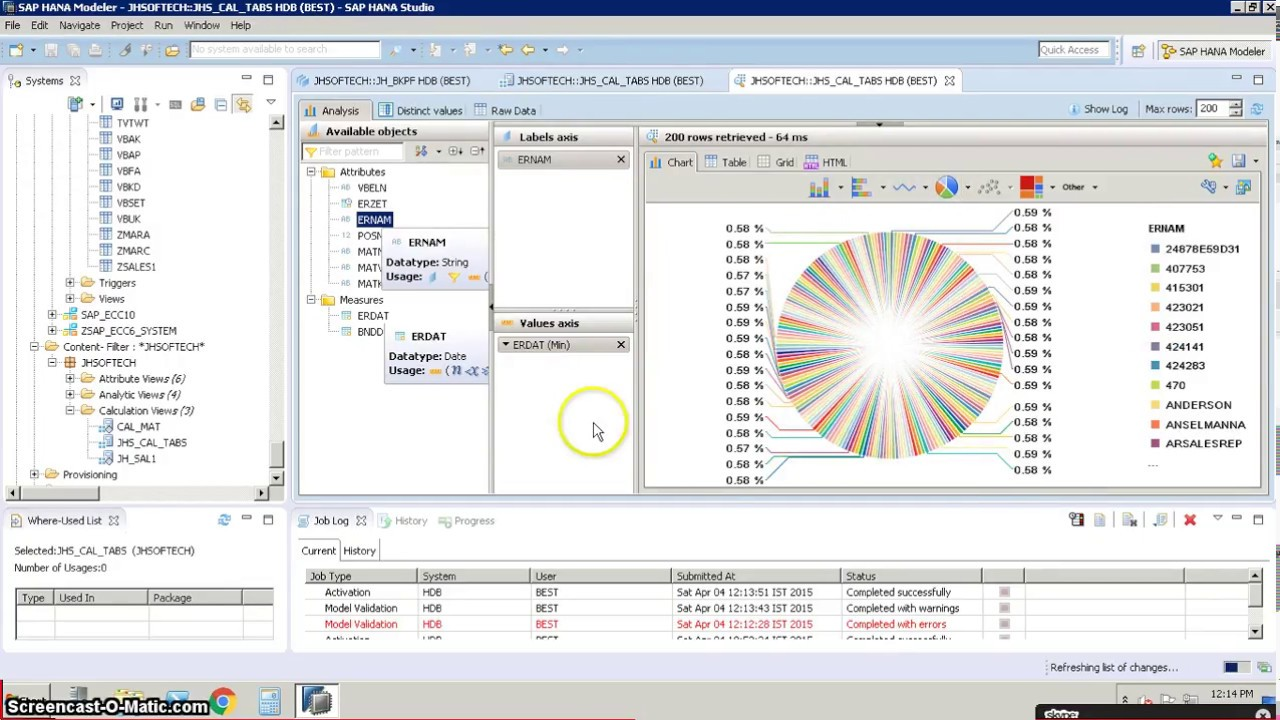 SAP HANA Graphical Calculation View Project 1