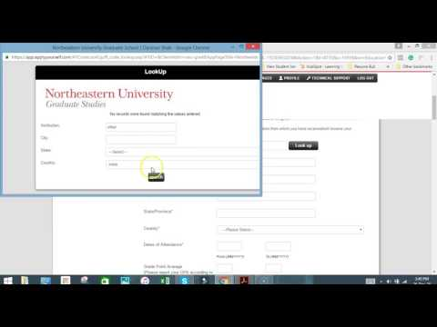 Northeastern University Online Application Process #2