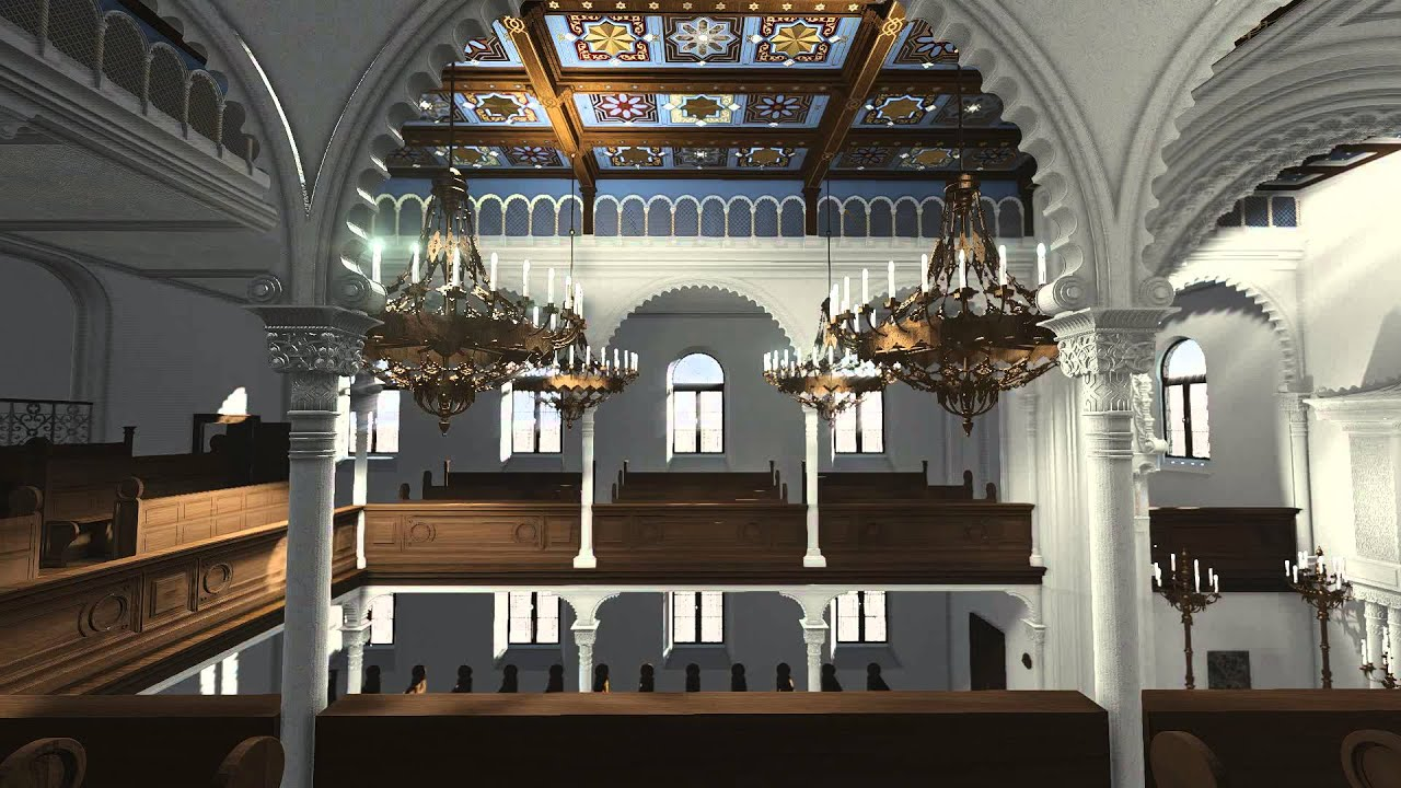 synagoge jablonec nad nisou animation innen youtube. Black Bedroom Furniture Sets. Home Design Ideas