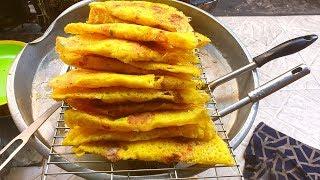 Kì lạ quán làm bánh xèo bằng chảo vênh mo móp méo nhưng cực ngon chỉ 8k/cái tại Sài Gòn - Vi Na TV