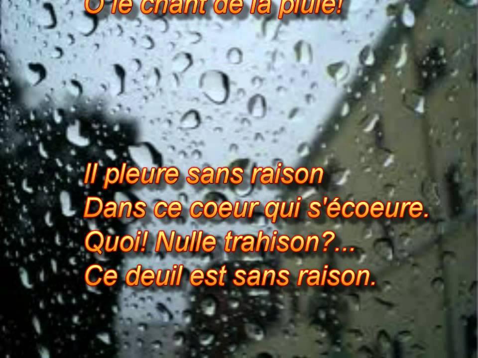 Il Pleure Dans Mon Coeur Paul Verlaine Lisons Le Poeme