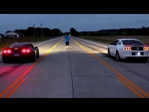 700hp NA C6 Corvette Z06 vs 700hp Ford Mustang GT500